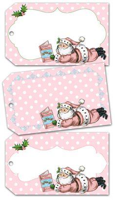 printable christmas tag- no puede ser más shabby