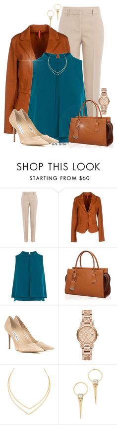 """""""Teal and brown formals."""" by an-nao ❤ liked on Polyvore featuring DKNY, Imperial, Coast, Tod's, Jimmy Choo, Burberry, Lana and Alexis Bittar"""