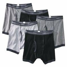 Boys Hanes® Multicolor 5-pack Ringer Boxer Brief Underwear