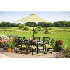 Better Homes and Gardens Hillcrest 7-Piece Patio Dining Set, Seats 6 $700