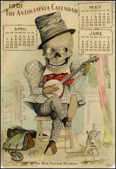 ✯ An Old Negro Melody . IN: The Antikamnia Chemical Company Calendar, April-June 1901:: By Peacay on Flickr ✯