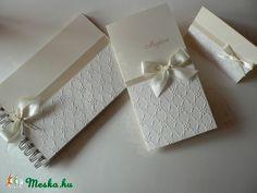 Kedvesen elegáns esküvői szett (papirosbolt) - Meska.hu