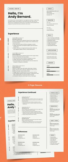 Creative Clean Resume / CV Templates | Graphics Design | Graphic Design Blog
