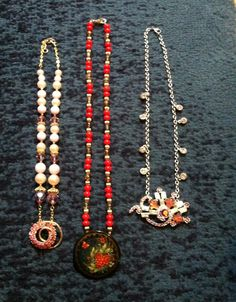 Necklaces using old pendants