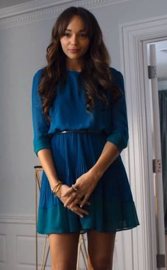 Blue 3/4 sleeve dress - different color