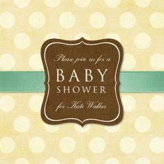 Mixbook Yellow Polka Girls Baby Shower Invitations