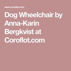Dog Wheelchair by Anna-Karin Bergkvist at Coroflot.com