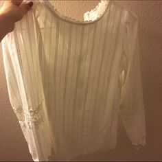 Cute shirt with leis ~ It can wear in summer ~ for school or work~ really comfortable Tops Blouses