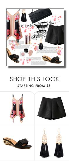 """Tassel earrings and block heels"" by stellina-from-the-italian-glam ❤ liked on Polyvore featuring Anja, tanktop, summerstyle, blockheels and tasselearrings"