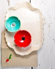 """Modern ceramic platter 12 1/2"""" X 8"""""""