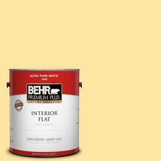 BEHR Premium Plus 1-gal. #pmd-10 Equator Glow Zero VOC Flat Interior Paint