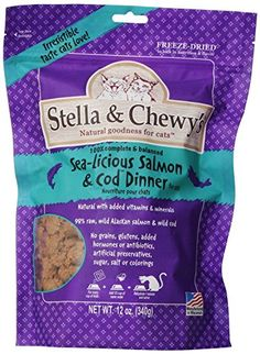 Stella and Chewy's Freeze Dried Salmon/Cod Food for Cat, 12 >>> Check this awesome product by going to the link at the image. (This is an affiliate link) Cat Nutrition, Vital Proteins, Salmon Dinner, Freeze Drying, Cat Treats, Cat Food, Cod, Cool Things To Buy, Vitamins