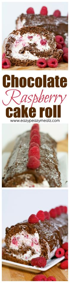 Don't let cake rolls intimidate you. This chocolate raspberry cake roll is not only DELICIOUS but super easy to make! A must try! - Eazy Peazy Mealz