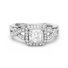 My dream ring. So pretty! Big Wedding Rings, Silver Engagement Rings, Wedding Ring Bands, Wedding Stuff, Wedding Ideas, Wedding Bells, Dream Wedding, Thing 1, Princess Cut Diamonds
