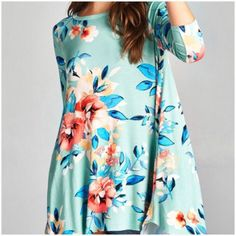 Sage Floral Tunic To