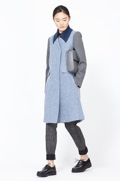 Carven Chevron Coat (Blue)