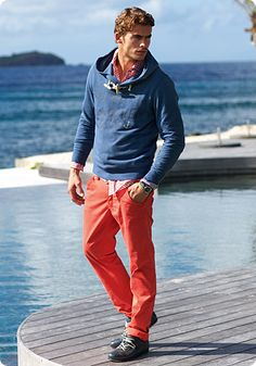 "Cool and casual look and I'm loving the "" tangerine tango"" color pants would love to find some Bermuda style shorts in this color."