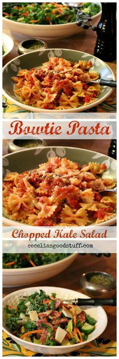 Recipe for Roasted Garlic Bowtie Pasta http://ceceliasgoodstuff.com/roasted-garlic-bowtie-pasta