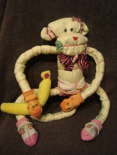 Diaper Cake  Diaper Monkey  Baby Shower Gift by Whatanoccasion, $17.50