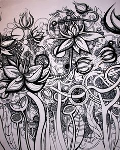 Doodle blomster..