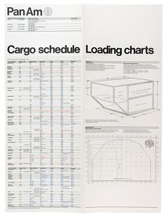 Pan Am Cargo Schedule Leaflet (1971) by Alan Fletcher