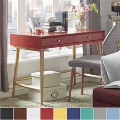 Shop for MID-CENTURY LIVING Marin Danish Modern 2-drawer Writing Desk. Get free shipping at Overstock.com - Your Online Furniture Outlet Store! Get 5% in rewards with Club O!