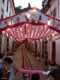 festival Portugal, paper flower decorations