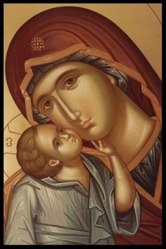 When you pray to our Lady. When you are about to pray to our Lady the Holy Virgin, be firmly assured, before praying, that you will not depart from her without having received mercy. Byzantine Icons, Byzantine Art, Catholic Art, Catholic Saints, Religious Icons, Religious Art, Religion, Russian Icons, Madonna And Child