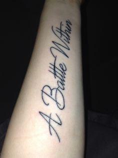 My tattoo for mental illness.