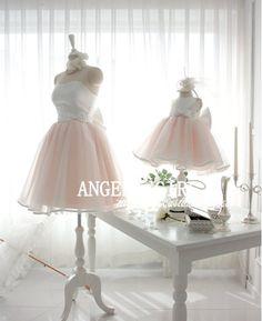 Pretty   TUTU Dress Wedding Flower Girl Easter by Angelagirl, $48.00