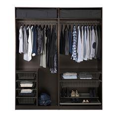 """PAX Wardrobe - standard hinges, -, 78 3/4x23 5/8x93 1/8 """" - IKEA"""