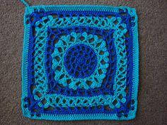 "Crochet-Victorian Hearts 12"" Afghan block AU$2.00 AUD"