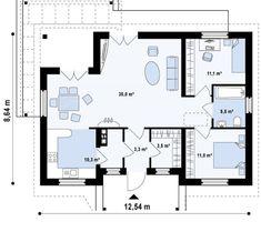 casa si gradina pe 300 de mp House and garden on 300 square meters 8 Square Meter, House Floor Plans, Close Image, Exterior, House Design, How To Plan, Garden, Arrow Keys, Spaces