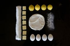 Things organized neatly -- all the makings for a lemon bar. Love this website. Gives me a sense that all is right with the world when things are organized so nicely. Things Organized Neatly, Lemon Bars, How Sweet Eats, Christmas Baking, Eye Candy, Give It To Me, Organization, Lemon Butter, Ocd
