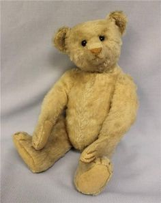"14"" Antique White STEIFF c1908 TEDDY BEAR Shoe Button Eyes, Growler Works!"