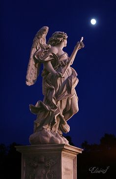 Angel carrying the lance, Ponte Sant Angelo, Rome