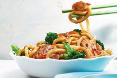 Stir-Fried Mongolian Noodles With Chicken