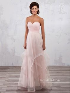Discover the best and unique wedding Dresses from Mary's bridal collection. Choose your dream bridal wedding dresses from the wide variety of styles, fabrics, necklines, silhouettes and many more. Mismatched Bridesmaid Dresses, Bridal Dresses, Bridesmaids, Bridesmaid Gowns, Mary's Bridal, Couture Dresses, Strapless Dress Formal, Ball Gowns, Bodice