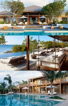 """Donna Karan's estate 'The Sanctuary' in Parrot Cay. This is where Angelina Jolie and Brad Pitt's """"rumored"""" wedding happened on Christmas Day."""