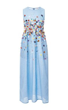 Embroidered Chambray Midi Dress by Suno Now Available on Moda Operandi