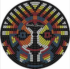 Crochet Blanket Tutorial, Tapestry Crochet, Mosaic Art, Rosettes, Loom, Beaded Necklace, My Style, Pattern, Bags