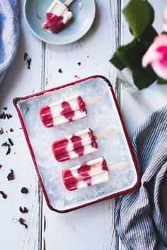 Hibiscus, Rhubarb + Yogurt Ice Pops | The Bojon Gourmet