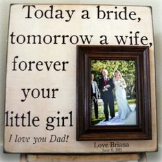 Such a cute idea for father or mother of the bride.