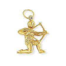 Jewelco London Oro 9 Carati SAGITTARIUS ZODIAC STAR SIGN Charm Ciondolo Astrology