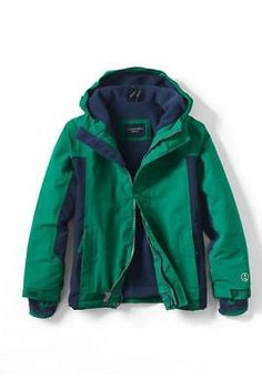 Outerwear 51933: New 14 16 Lands End Boys Squall Jacket Green Winter Waterproof Coat Snow -> BUY IT NOW ONLY: $49.99 on eBay!