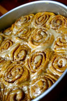 Pumpkin Maple Cinnamon Rolls - I can't wait to make these!