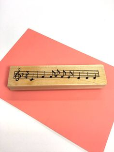 Music Notes Rubber Stamp Musical Craft Stamp Sheet Music