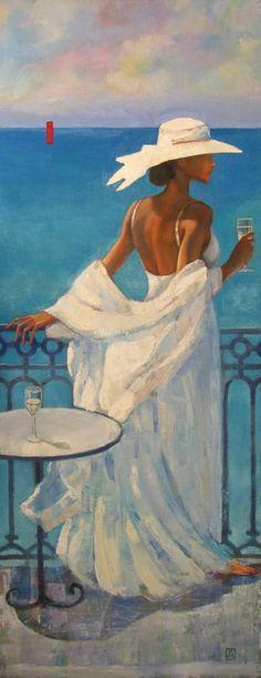 Original Love Painting by Mariana Kalacheva Beach Canvas Art, Beach Art, Classic Paintings, Beautiful Paintings, Abstract Tree Painting, Painting Canvas, Paradis Tropical, Tango Art, Afrique Art