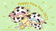 Sanrio Characters, Disney Characters, Fictional Characters, Chinese New Year Wallpaper, Sanrio Danshi, Hamtaro, Sanrio Wallpaper, Little Twin Stars, Happy New Year