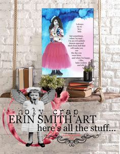 """Erin Smith Art (HOLY CRAP) 2020 """"here's all the stuff"""" Erin Smith, Im Mad, You Go Girl, Cocktail Napkins, Ceramic Mugs, Haha Funny, Holi, Greeting Cards, Make It Yourself"""